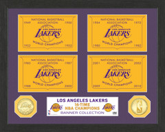 "Los Angeles Lakers ""Banner"" Bronze Coin Photo Mint"