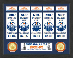 Edmonton Oilers Stanley Cup Banner Collection Photo Mint