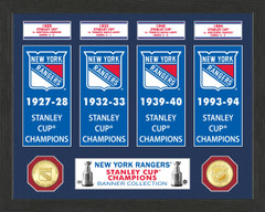 New York Rangers Stanley Cup Banner Collection Photo Mint