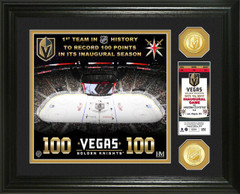 Vegas Golden Knights 100 Points Bronze Coin Photo Mint