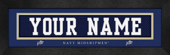 Navy Midshipmen Personalized Jersey Nameplate