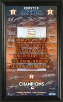 Houston Astros 2017 Banner Raising and Ring Ceremony Signature Photo