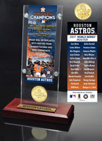 Houston Astros 2017 Banner Raising and Ring Ceremony Ticket & Bronze Coin Acrylic Desk Top