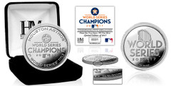 Houston Astros 2017 World Series Champions Pure Silver Mint Coin