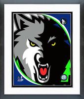 Minnesota Timberwolves Framed Logo Print