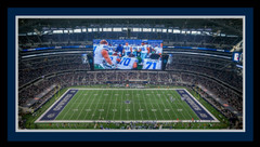 Cowboys Stadium Framed Panoramic Photo