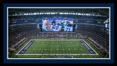 Cowboys Stadium Framed Panoramic Photo