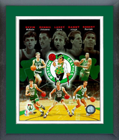 "Boston Celtics ""Big 5"" Legends Composite"