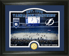 "Tampa Bay Lightning ""Rink"" Bronze Coin Photo Mint"