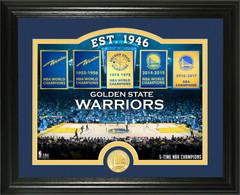 "Golden State Warriors ""Court"" Bronze Coin Photo Mint"
