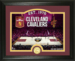 "Cleveland Cavaliers ""Court"" Bronze Coin Photo Mint"