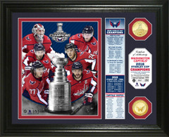 "Washington Capitals 2018 Stanley Cup Final Champions ""Banner"" Bronze Coin Photo Mint"