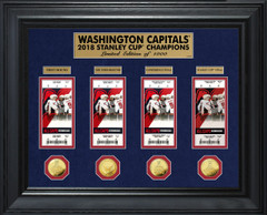 Washington Capitals 2018 Stanley Cup Champions Deluxe Gold Coin & Ticket Collection
