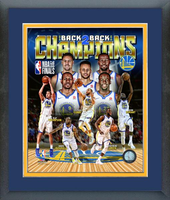 Back2Back Golden State Warriors Framed Composite Picture