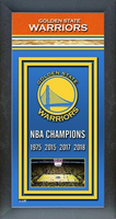 Golden State Warriors Framed Championship Banner