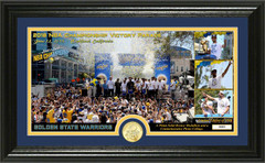 "Golden State Warriors 2018 NBA Champions ""Parade"" Panoramic Bronze Coin Photo Mint"