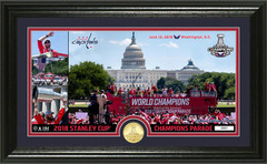 "Washington Capitals 2018 Stanley Cup Champions ""Parade"" Panoramic Bronze Coin Photo Mint"