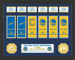 Golden State Warriors 6-Time NBA Champions Banner Collection