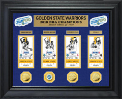 Golden State Warriors 2018 NBA Finals Champions Deluxe Gold Coin & Ticket Collection