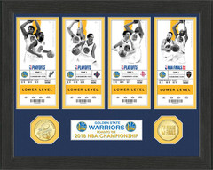 Golden State Warriors 2018 NBA Finals Champions Ticket Collection