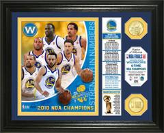 """Golden State Warriors 2018 NBA Finals Champions """"Banner"""" Bronze Coin Photo Mint"""