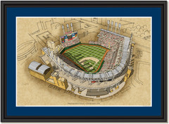Progressive Field Large Illustration Home of Cleveland Indians
