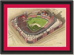 Busch Stadium Large Illustration Home of St. Louis Cardinals