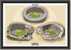 Atlanta Braves Historic Ballparks of Baseball Framed Print