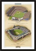 Denver Historic Ballparks of Baseball Framed Print