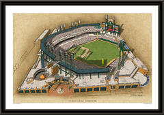 Comerica Park Large Illustration Home of the Detroit Tigers