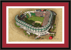 Angels Stadium Large Illustration Home of the Los Angeles Angels