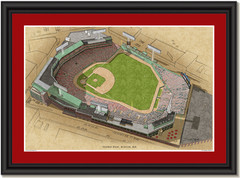 Fenway Park Large Illustration Home of the Boston Red Sox