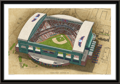 Chase Field Large Illustration Home of the Arizona Diamondbacks