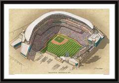 Target Field Large Illustration Home of the Minnesota Twins