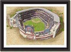 Suntrust Park Large Illustration Home of the Atlanta Braves