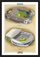 Miami Historic Ballparks of Baseball Framed Print