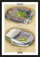 Miami Historic Ballparks of Baseball Framed Print
