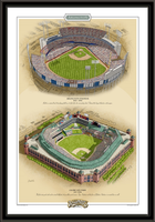 Texas Historic Ballparks of Baseball Framed Print