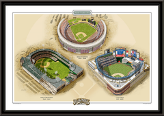 New York Historic Ballparks of Baseball Framed Print