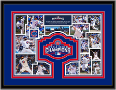 Chicago Cubs World Series Milestones and Memories Framed Picture