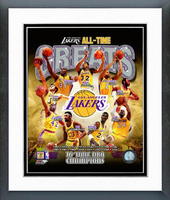 Los Angeles Lakers All Time Greats Framed Picture