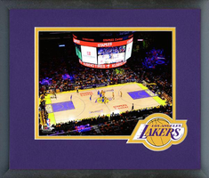 Staples Center Home Court of the Los Angeles Lakers Framed Print