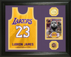"Lebron James ""Los Angeles Lakers Jersey "" Bronze Coin Photo Mint"