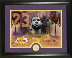 Lebron James Lakers Commemorative Bronze Coin Photo Mint