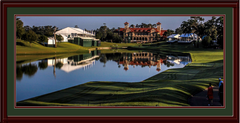 Riviera Country Club Framed Panoramic Picture