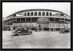 Vintage Framed Photo of Wrigley Field