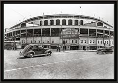 Vintage Framed Photo of Wrigley Field