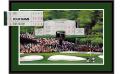 Personalized Augusta Leaderboard Framed Print