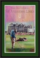 Personalized St. Andrews Leaderboard Framed Print
