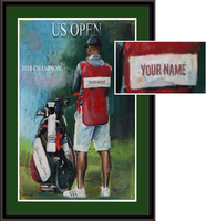 Personalized Golf Caddie Framed Print